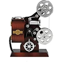 Mini Music Box Retro Film Kinaprojector Music Box Hout Metaal Antieke Musical Box for Kids (Kleur: Bruin, Maat: Een maat…