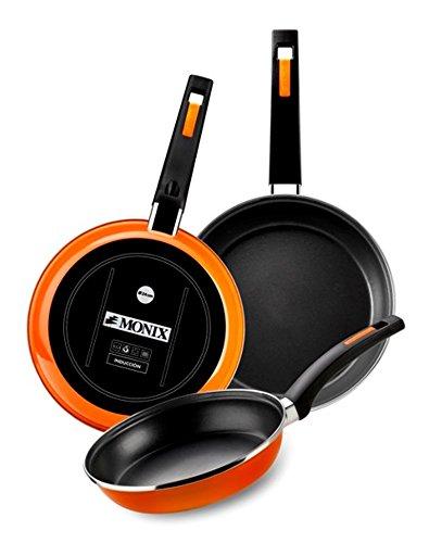 Amazon.com: Braisogona M380020 Monix Mandarina Enamelled Steel Non-Stick Frying Pan, 20 cm, Orange: Home & Kitchen