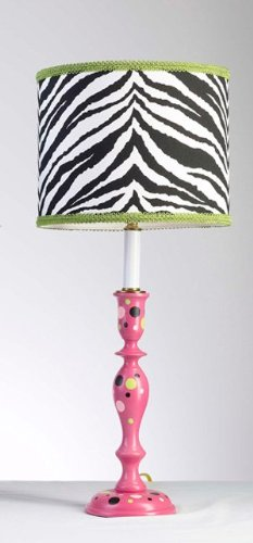 Yessicas Collection YC 4585 Fushia Pink with Multi Dots LP7 Lamp and Zebra (Fushia Dots)