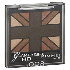 Rimmel Glam' Eyes Hd Quad Eye Shadow #002 English - Oak Quad