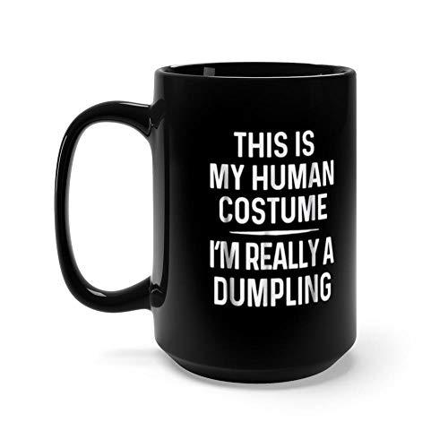 Funny Halloween Really Dumpling 15 Oz Ceramic Coffee Mugs With C-shape Handle, Comfortable To Hold.