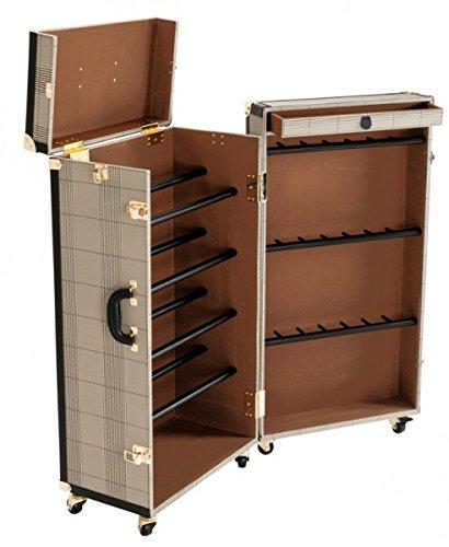 Casa padrino luxus schuh schrank im vintage koffer design for Design einrichtung gunstig