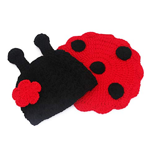 Baby Photo Prop Outfit Newborn Knit Crochet Photopraphy Ladybug Clothes (Flower)