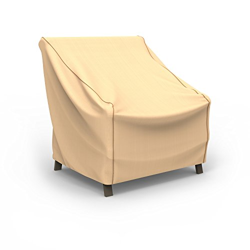 Budge Chelsea Patio Chair Cover, Medium (Tan) (Chairs Boat Lounge Deck)