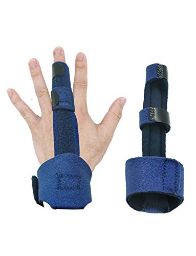 Finger Extension Splint Medical Grade with Aluminum Isolated Support Fits All Fingers for Trigger Finger, Sprains, Broken Fingers, Injuries, Strains, Mallet Finger, Pain Relief by Miracliy