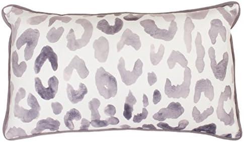 Thro by Marlo Lorenz 12×20 Miron Cheetah Velvet Throw Pillow, Nirvana