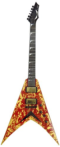 (Dean Guitars Dave Mustaine VMNT Holy Grail Limited Edition 33 Pc, Solid-Body Electric Guitar, Gold Leaf/Deep Red)