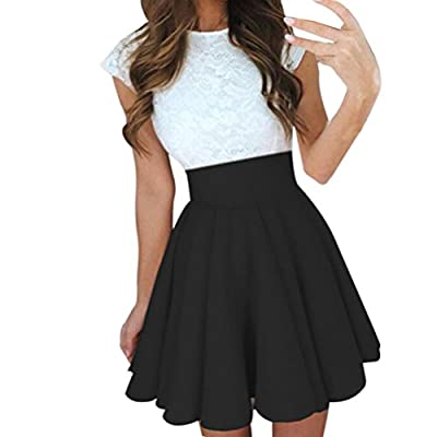 Lookatool Skirts, Womens Party Cocktail Mini Skirt Ladies Summer Skater Skirt