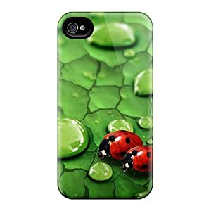 Cute High Quality Iphone 4/4s Ladybug In Love Case