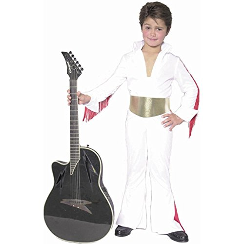 Charades Kid's Elvis Rock Star Costume - Size: Medium 8-10 Years (Elvis Costume For Kids)