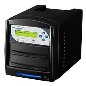 Vinpower Digital Inc. SharkCopier 1 to 1 Target 20x DVD CD Disc Duplicator Tower SATA 1.5 Gb-s (Shark-S1T-SNY-BK) -  Black