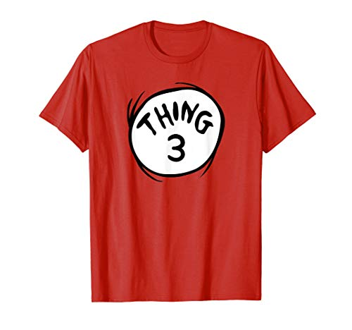 Dr. Seuss Thing 3 Emblem RED T-shirt -