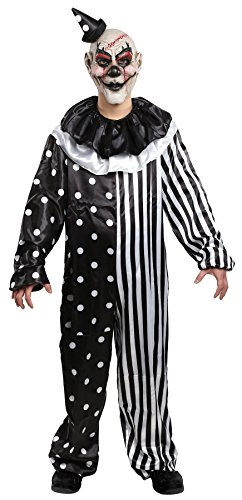Mario Chiodo UHC Boy's Kill Joy Clown Outfit Funny Theme Fancy Dress Child Halloween Costume, Child L (12-14)