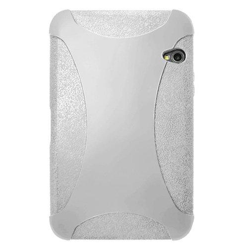 carcasa de la caja de la jalea amzer Exclusiva piel de silicona para Dell Streak 7 - blanco transparente