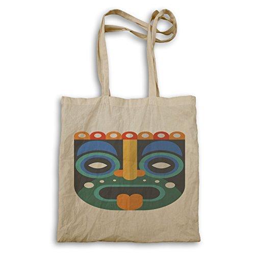 Tiki Maske Hintergrund Kunst Tragetasche p710r