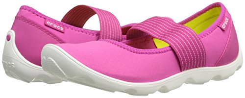 Crocs Women's 16025 Duet Busy Day Mary Jane Flat,Candy Pink/White,8 M US by Crocs (Image #6)