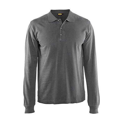 Blaklader 338810509400M Long Sleeves Polo Shirt, Size M, ...