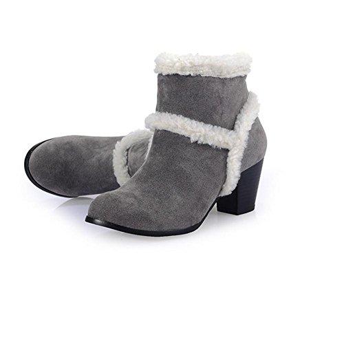 neve gray XIAOGANG scarponi nero scarponi invernali HLe e combattono con giallo gelo gli antiscivolo donne H grossolani 37 gli grigio da WzPPrxH6