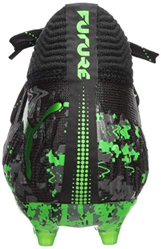 PUMA Unisex Future 19.1 Netfit FG/AG JR Sneaker, Black-Charcoal Gray-Green Gecko, 5 M US Big Kid by PUMA (Image #2)