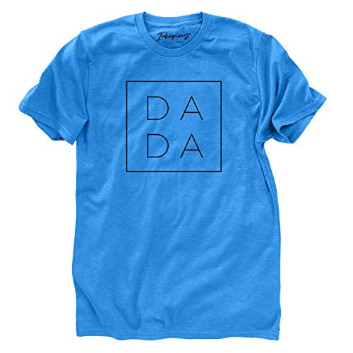 Inkopious DADA T-Shirt - First Time Father's Day Present - Unisex Crewneck Xtra Large Blue