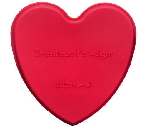 Elizabeth Karmel's 5- by 5.5-inch Red Silicone Sweetheart Pie Weight by HIC Brands That Cook
