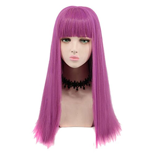 2019 Cosplay Wig Long Purple Adult Women Fashion Costume Party Wig -