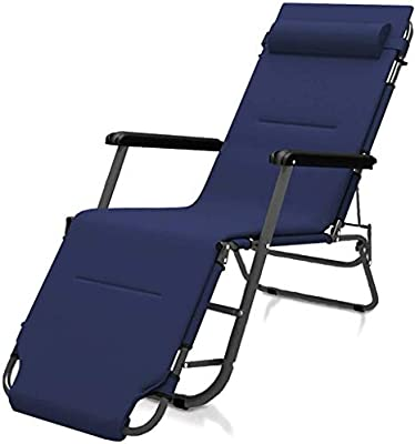 ADHW Reclinable, sillas reclinables Exterior, Tumbona reclinable Ajustable de Aluminio, Plegable Silla de jardín, Sala de Estar Butaca, Tumbona (Color : Blue): Amazon.es: Hogar