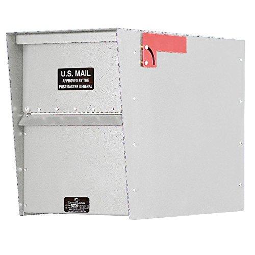 Jayco LLA3RRSTD Standard Rear Access Aluminum Letter Locker Mailbox White