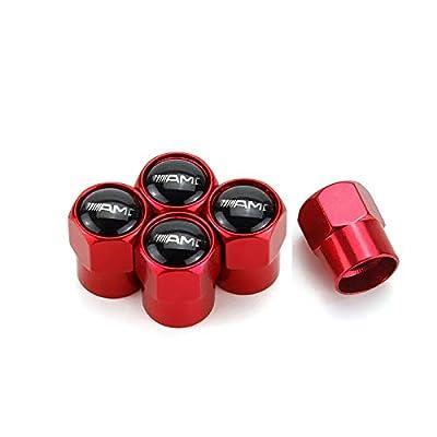 TK-KLZ 5Pcs Car Wheel Tires Valve Stem Caps for Mercedes Benz AMG Decorative Accessories: Automotive [5Bkhe0913307]