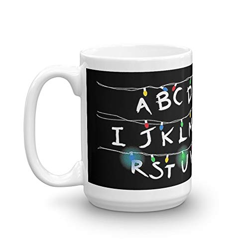 ABCDEFG A-Z Word 15 Oz Ceramic Coffee Mugs With C-shape Handle, Comfortable To Hold. 15 Oz Mugs Makes The Perfect Gift For -