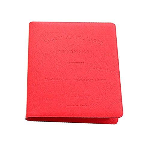 Insho 64 Pockets 3 inch Photo Album Fuji Instat Mini Album PU Leather Name Card Holder for Polaroid Fuji Instax Mini 8 70 7S 25 50S 90 Film - ()