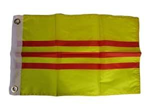 "12x 1812""x18"" Sur Vietnam país bandera de motocicleta barco ojales"