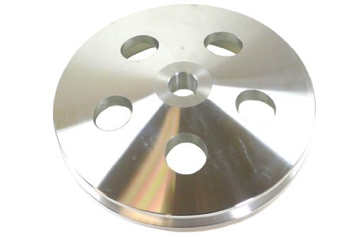 Racer Performance 1955-72 Chevy/GM Machined Aluminum Key-Way Power Steering Pump Pulley - 1 Groove