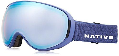 Native Eyewear Denim Drop Zone Ski-Goggles, Snow Turned Rose Blue