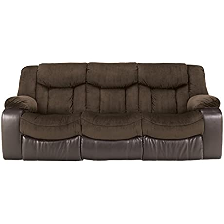 Ashley Furniture Signature Design Tafton Reclining Sofa Contemporary Style Java