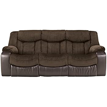 Ashley Furniture Signature Design - Tafton Reclining Sofa - Contemporary Style - Java  sc 1 st  Amazon.com & Amazon.com: Ashley Furniture Signature Design - Tafton Reclining ... islam-shia.org