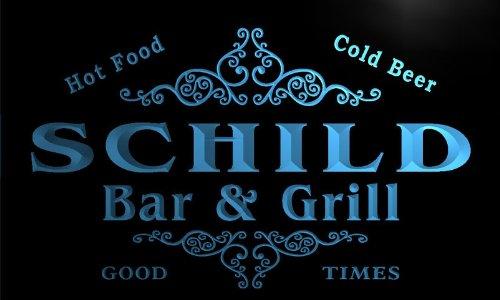 u39803-b SCHILD Family Name Bar & Grill Home Brew Beer Neon Sign Barlicht Neonlicht Lichtwerbung