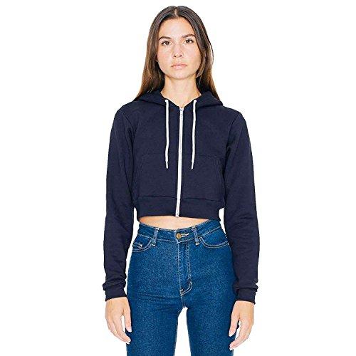 American Apparel - Sudadera con capucha - para mujer azul marino