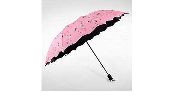 Paraguas Violeta Anti-UV Primavera Y Verano Parasol Plegable Paraguas Soleado sombrilla (Color : D): Amazon.es: Deportes y aire libre