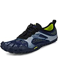 Men's Quick Drying Black Hiking Shoes Lightweight Mesh Breathable Jogging Trail Shoes Outdoor Running Sneakers