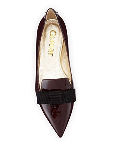 Guoar - Scarpe chiuse Donna, (rosso), 41/27.4cm