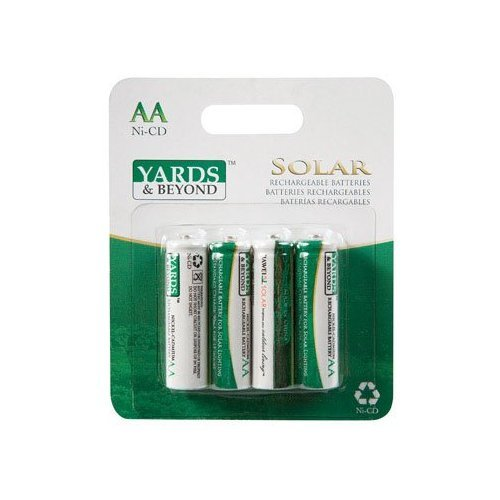 BATTERY F/SOLAR AA 4PK by LIVING ACCENTS MfrPartNo BT-NC-AA-900-D4