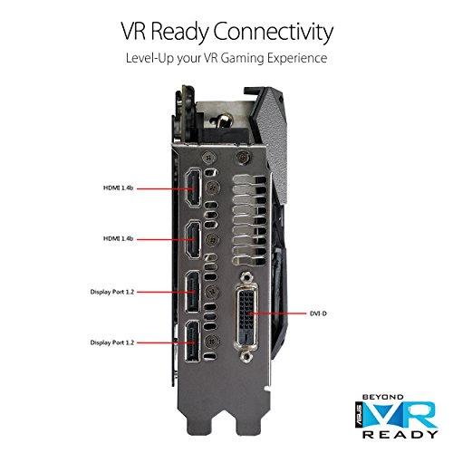 ASUS ASUS ROG Strix Radeon RX 580 T8G Gaming Top OC Edition GDDR5 DP HDMI DVI VR Ready AMD Graphics Card - ROG-STRIX-RX580-T8G-GAMING Boost Clock 1431 MHz ROG-STRIX-RX580-T8G-GAMING