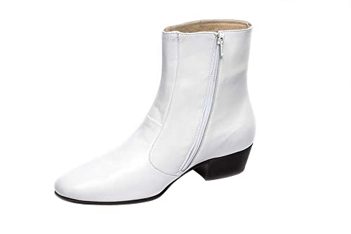 d1274ccfd32 Luciano White Boots for Men's Elvis Costumes-100% Leather