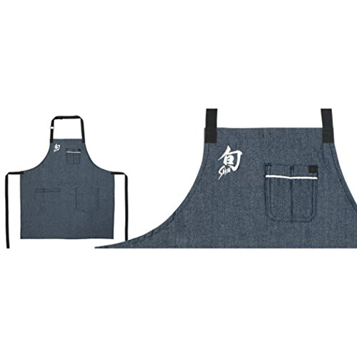 Shun SHUNAPRON11 Dashi Apron, One Size, Herringbone Blue by Shun