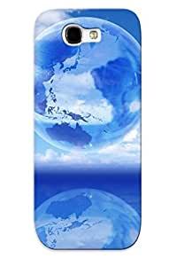 Improviselike High-quality Durability Case For Galaxy Note 2(earth Reflction )