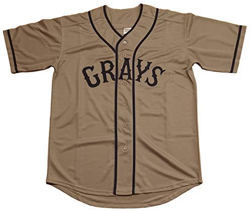 Kooy Josh Gibson #20 Homestead Grays Negro National League Baseball Jersey (Gray, ()