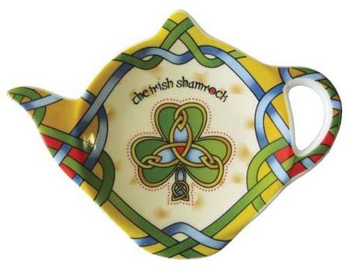 (Shamrock Tea Bag Holder Tea Accessories Celtic Colors)