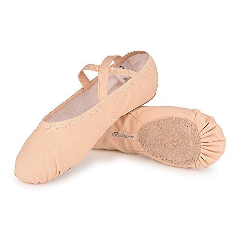 Varie Punta Spezzata Tela Scarpette Skyrocket Mezza Bambini Da E Suola Danza Per In Rose Adulti Misure AyzCU