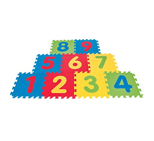 Safe, Soft, Colorful & Interlocking Foam Puzzle Play Mat, Teaches Hopscotch for Activity and Education to Your Children by Polymat